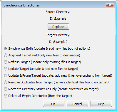 Folder Synchronize File Operations Dialog (Optional)