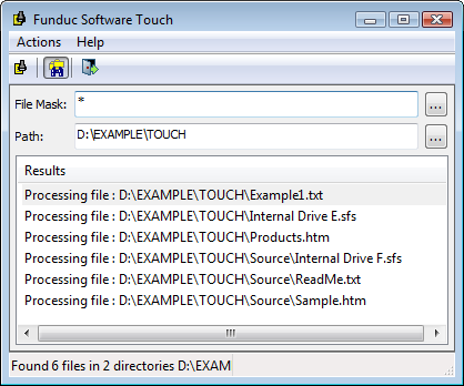 Funduc Software Touch Utility - A free program to change file time, date, and attributes on Windows Vista, Windows 7, & Windows 8.