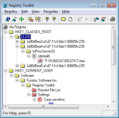 Registry Toolkit Screen Shot